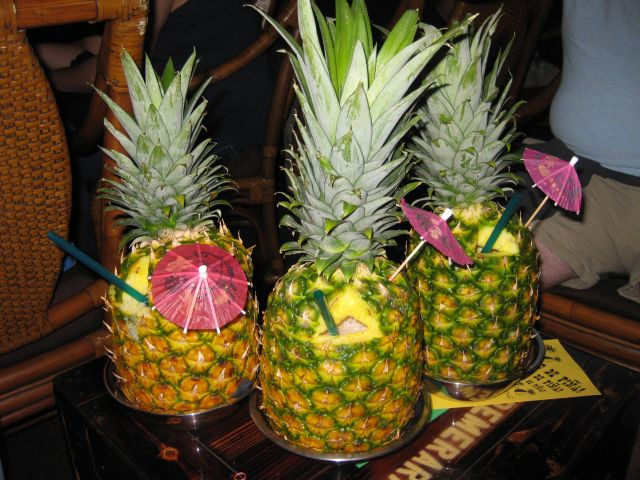 Pineapple Tiki Drinks @ Smuggler's Cove